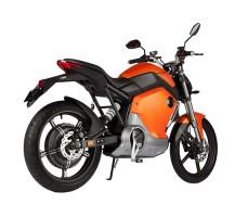 фото электромотоцикла Soco 1200W Orange сзади