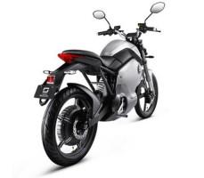 фото электромотоцикла Soco 1200W Silver сзади