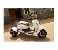 Электротрицикл Mytoy Retro 1000W White