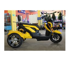 фото электротрицикла MYTOY SPORT Yellow сбоку