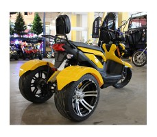 фото электротрицикла MYTOY SPORT Yellow сзади
