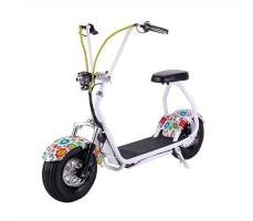Электросамокат EL-Sport Mini Citycoco 800W 48V/20Ah Flowers