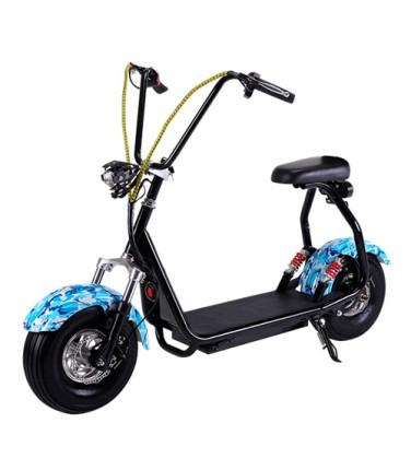 Электросамокат EL-Sport Mini Citycoco 800W 48V/12Ah Blue Khaki  | Купить, цена, отзывы