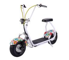 Электросамокат EL-Sport Mini Citycoco 800W 48V/12Ah Flowers