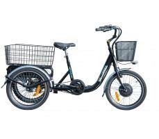 Электротрицикл Wellness Fazenda Black, вид сбоку
