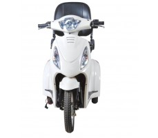 Электротрицикл Wellness Trike White, вид спереди