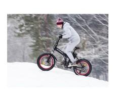 фото велогибрида Cyberbike Fat 350W на ходу