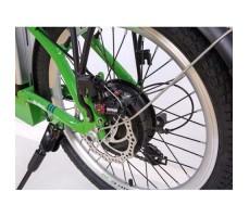фото колесо заднее Складной электровелосипед Elbike Galant Vip 500W 48v10,4a White-green