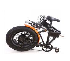 фото в сложенном виде Складной электрофэтбайк Elbike MATRIX VIP 500W 48v8,8a Black-Orange