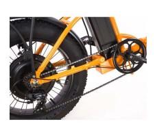 фото колесо заднее Складной электрофэтбайк Elbike TAIGA 2 с багажником 500W Orange