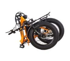 фото в сложенном виде Складной электрофэтбайк Elbike TAIGA 2 с багажником 500W Orange