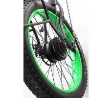Фото переднего колеса электровелосипеда Pedego Trail Tracker Black-Green