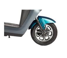 Электроскутер ZING WIDE Blue переднее колесо