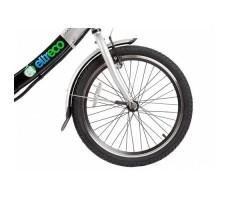 фото велогибрида Eltreco Good LITIUM 350W Black переднее колесо