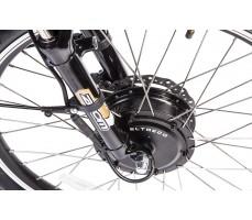 Фото  мотора велогибрида Eltreco PATROL КАРДАН 24 Black