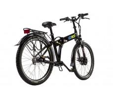 Фото велогибрида Eltreco PATROL КАРДАН 26 NEXUS 7 Black вид сзади