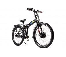 Фото велогибрида Eltreco PATROL КАРДАН 28 Disc Black вид спереди