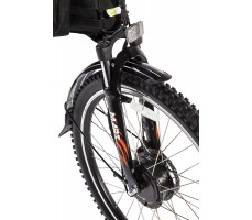 Фото  вилки велогибрида Eltreco PATROL КАРДАН 28 Black
