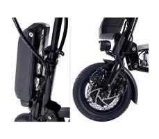 Фото колеса и руля электрического привода Eltreco Sunny для инвалидной коляски