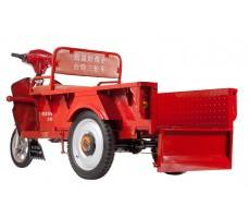 Фото грузовой электрической тележки Муравей с откинутой задней стенкой кузова