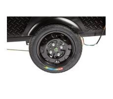 Грузовая электрическая тележка D1 Black заднее колесо