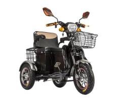 Трицикл S1 V2 с большой корзиной Black вид спереди