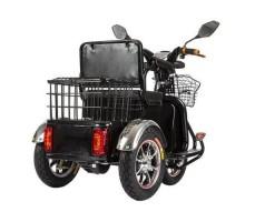 Трицикл S1 V2 с большой корзиной Black вид сзади
