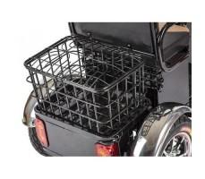 Трицикл S1 V2 с большой корзиной Black задняя корзина