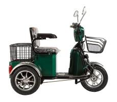 Трицикл S1 V2 с большой корзиной Green вид сбоку