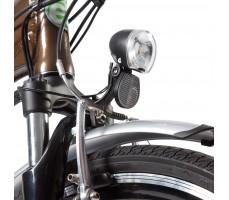 Фото переднего фонаря велогибрида Eltreco Grand 700C Brown