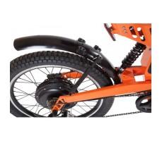 фото заднего колеса и амортизатора велогибрида Eltreco SPARTA NEW ЛЮКС Orange