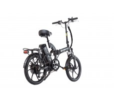 Фото велогибрида Eltreco TT 500W Matt Black вид сзади
