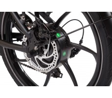 Фото заднего колеса велогибрида Eltreco TT 500W Matt Black