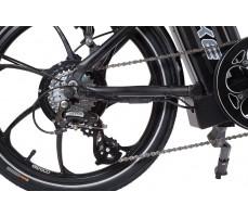 Фото заднего колеса велогибрида Eltreco TT 500W VIP Matt Black