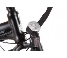 Фото переднего фонаря велогибрида Eltreco TT 500W VIP Matt Black