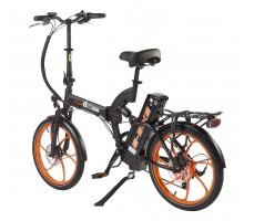 Фото велогибрида Eltreco TT 350W Orange вид сзади