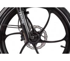 Фото переднего колеса велогибрида Eltreco WAVE 500W VIP Black
