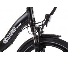 Фото переднего фонаря велогибрида Eltreco WAVE 500W Matt Black