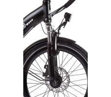 Фото переднего колеса велогибрида Eltreco WAVE 500W Spoke Matt Black
