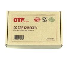Фото коробки от автомобильно зарядного устройства GTF для гироскутера