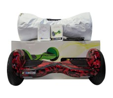 фото гироскутера Zaxboard ZX-11 Pro Flame возле коробки