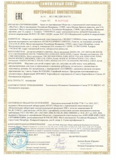 Сертификаты Globber