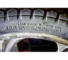 Фото маркировки шины моноколеса Gotway Monster 22 2400 WH Red