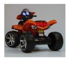 фото детского электроквадроцикла Barty Quad Pro М007МР Orange сзади