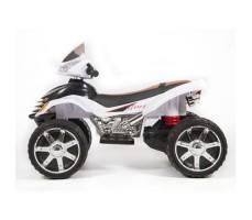 фото детского электроквадроцикла Barty Quad Pro М007МР White сбоку