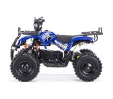 Боковое фото детского электроквадроцикла MOTAX Mini Grizlik Х-16 800W Blue