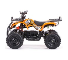 Боковое фото детского электроквадроцикла MOTAX Mini Grizlik Х-16 800W Orange