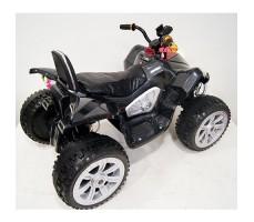 фото детского электроквадроцикла RiverToys А001МР Black сзади