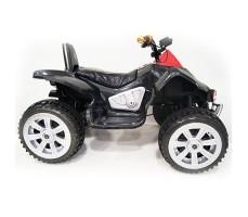 фото детского электроквадроцикла RiverToys А001МР Black сбоку
