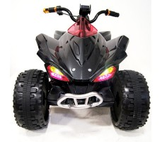 фото детского электроквадроцикла RiverToys А001МР Black спереди